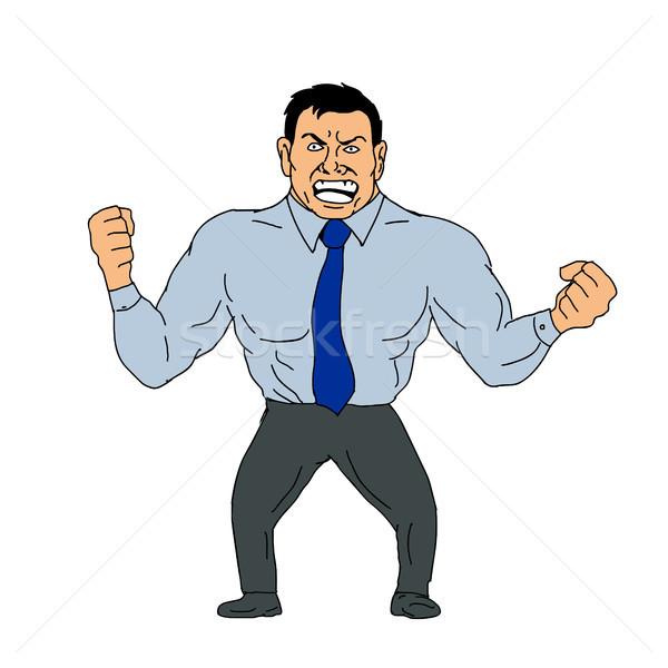 Angry Businessman Cartoon Stock photo © patrimonio