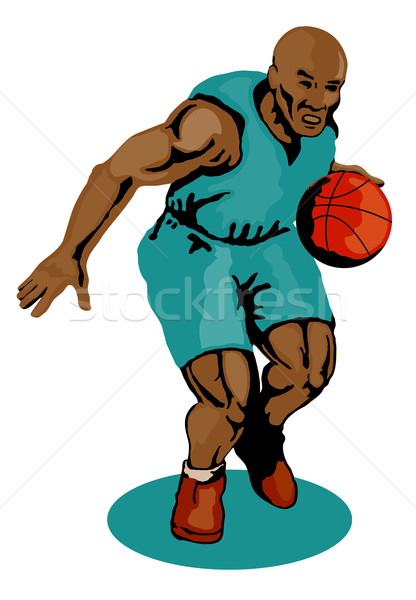 Basketball Player Dribbling Stock photo © patrimonio