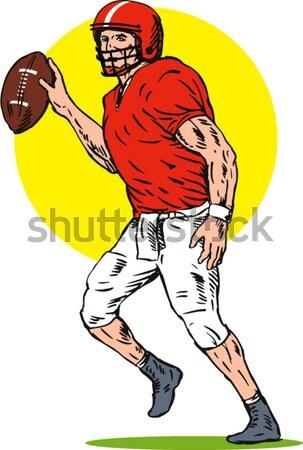 Rugby Player Tackling Stock photo © patrimonio