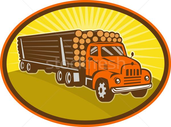 vintage logging truck Stock photo © patrimonio