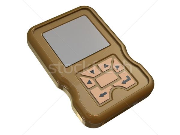 3d render of mobile cellphone pda phone Stock photo © patrimonio