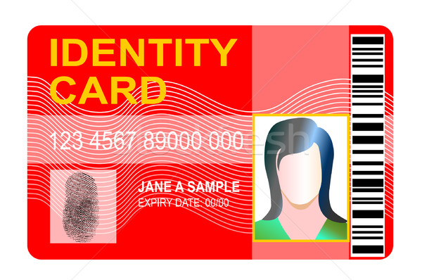 Generic id card with thumbprint Stock photo © patrimonio