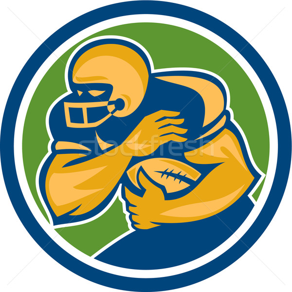 American Football Running Back Fending Circle Stock photo © patrimonio
