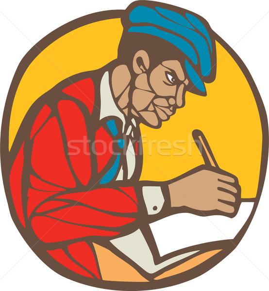 Scrittore giornalista illustrazione iscritto lato set Foto d'archivio © patrimonio