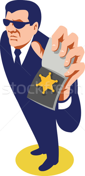 Stock photo: Secret Agent ID Badge Retro