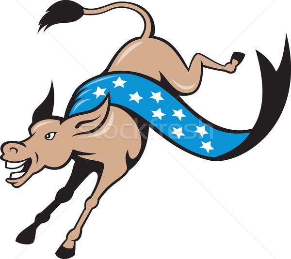 Eşek atlama demokrat karikatür örnek Yıldız Stok fotoğraf © patrimonio