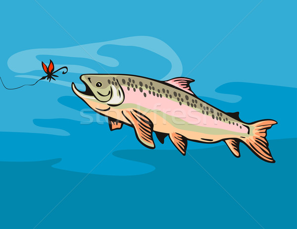 Trout Fish with Bait Stock photo © patrimonio