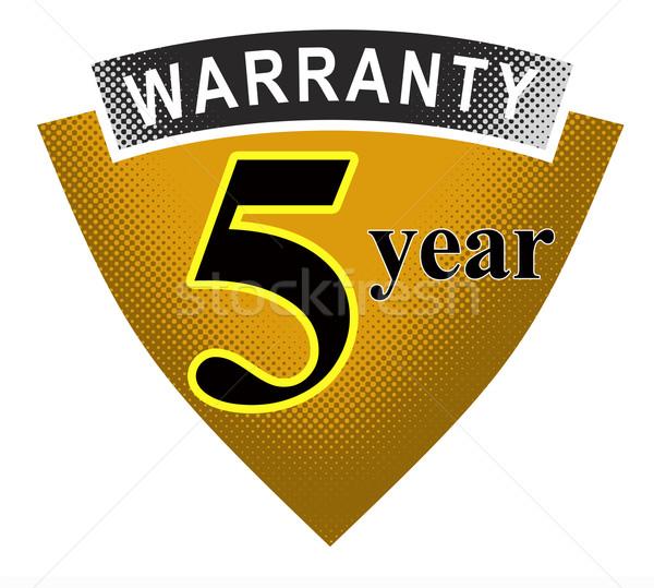 5 Year Warranty Shield Stock photo © patrimonio