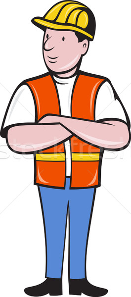 construction worker with arms folded Stock photo © patrimonio