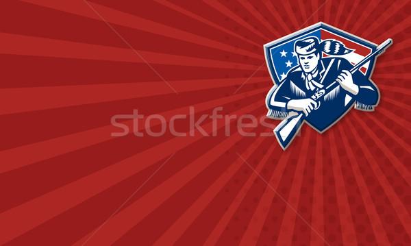 Amerykański patriota gwiazdki banderą Zdjęcia stock © patrimonio