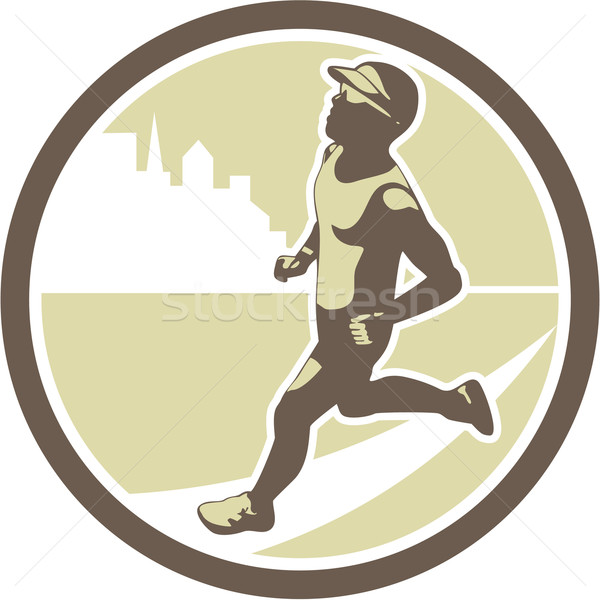 çalışma yan daire Retro örnek maraton Stok fotoğraf © patrimonio