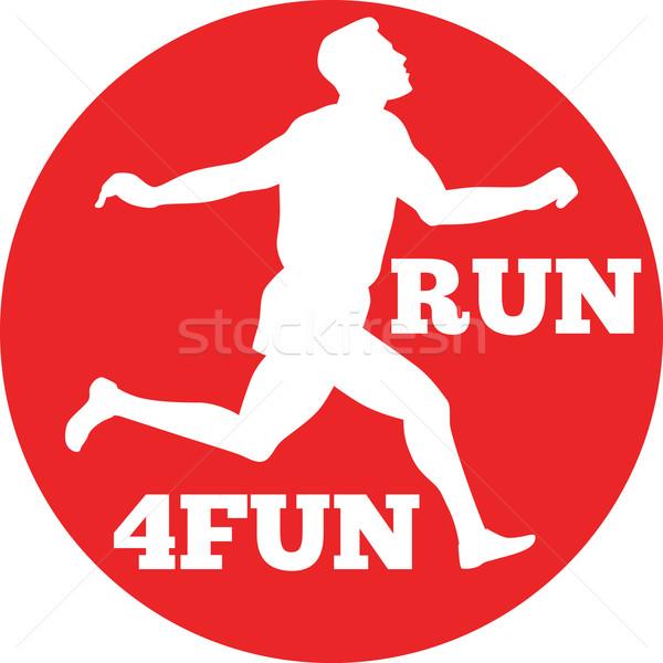 マラソン ランナー 実行 レース 実例 シルエット ストックフォト © patrimonio