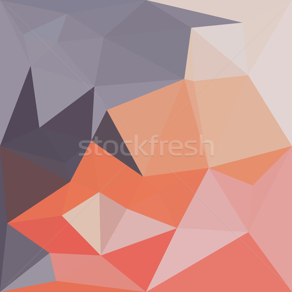 Atomic Tangerine Orange Abstract Low Polygon Background Stock photo © patrimonio