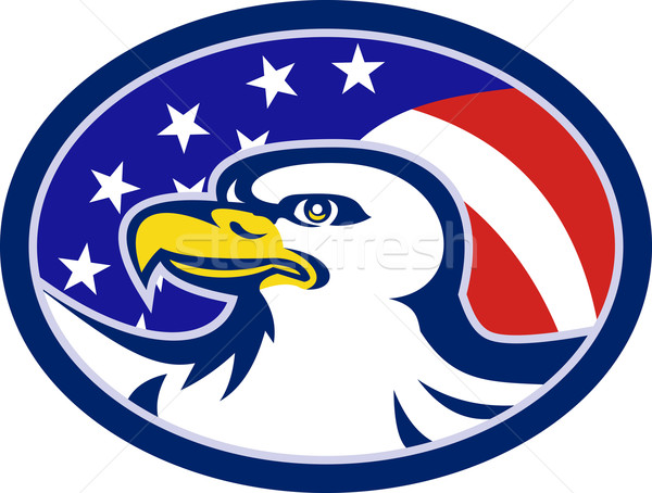 American Bald Eagle Stars Stripes Flag Stock photo © patrimonio