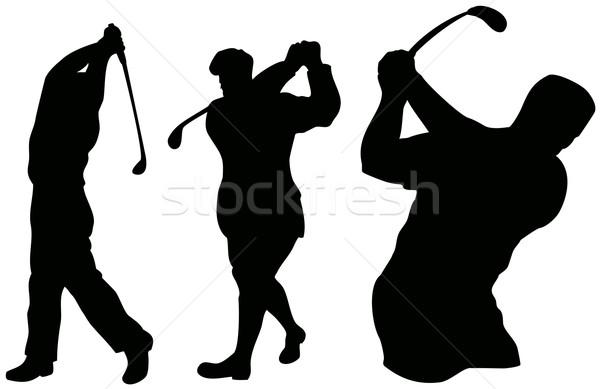 Golfer Swinging Stock photo © patrimonio