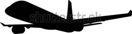 Commercial Jet Plane Airline Silhouette  Stock photo © patrimonio