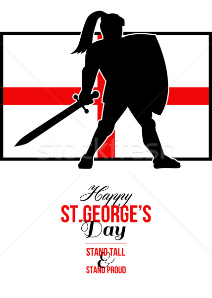 Happy St George Day Stand Tall and Proud Greeting Card Stock photo © patrimonio