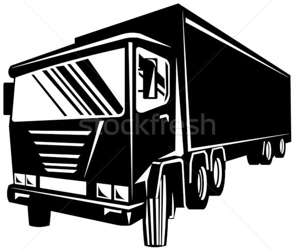 Stok fotoğraf: Siyah · kamyon · görmek · yalıtılmış · örnek