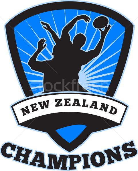 Rugby Player  New Zealand Champions Stock photo © patrimonio