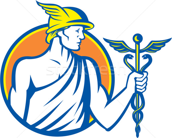 Mercury Holding Caduceus Staff Stock photo © patrimonio