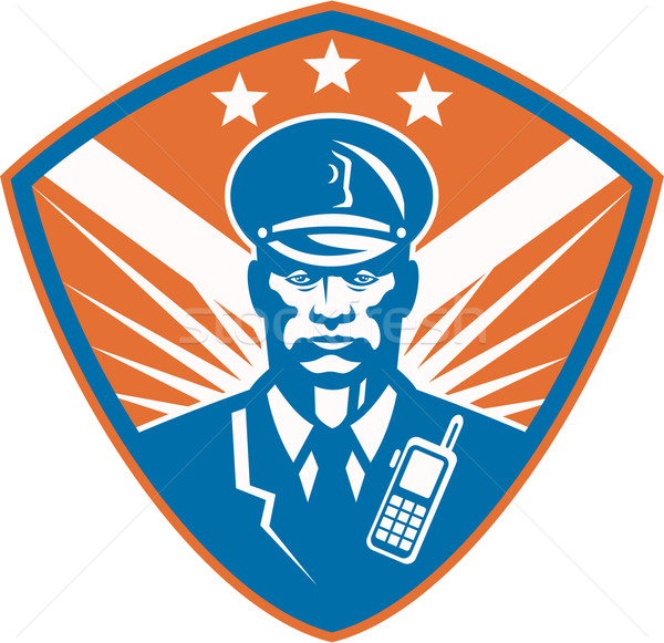 Policeman Security Guard Police Officer Crest Stock photo © patrimonio