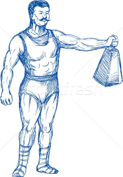 strongman holding heavy weight Stock photo © patrimonio