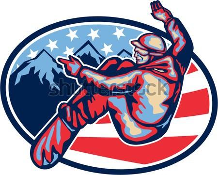 Giorno moderno americano soldato carta biglietto d'auguri Foto d'archivio © patrimonio