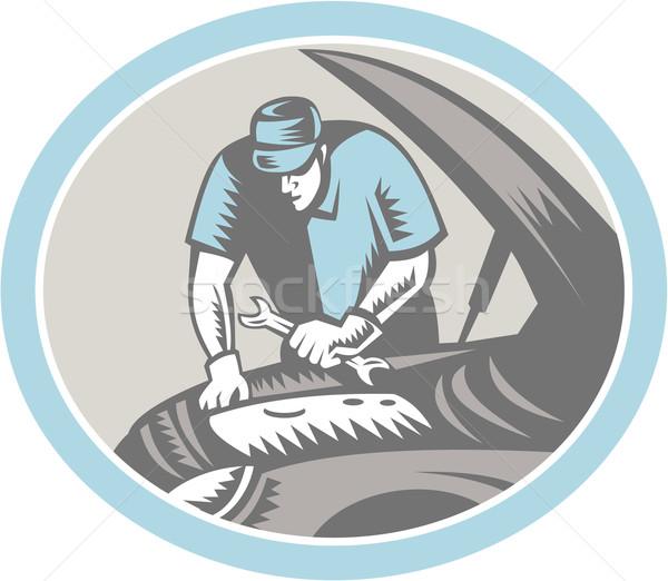 自動車修理 レトロな 実例 ストックフォト © patrimonio