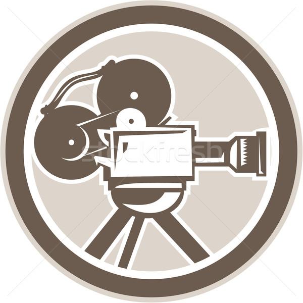 Film filmcamera vintage cirkel retro illustratie Stockfoto © patrimonio