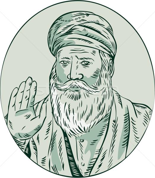 Sikh guru sacerdote Foto d'archivio © patrimonio