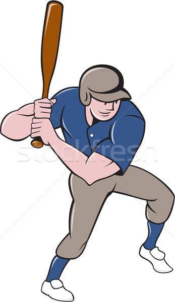 Baseball Player Batting Isolated Cartoon Stock photo © patrimonio
