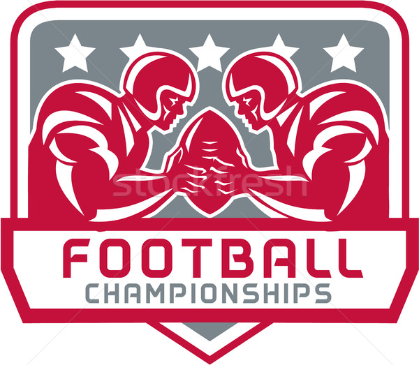 American Football Championship Crest Retro Stock photo © patrimonio