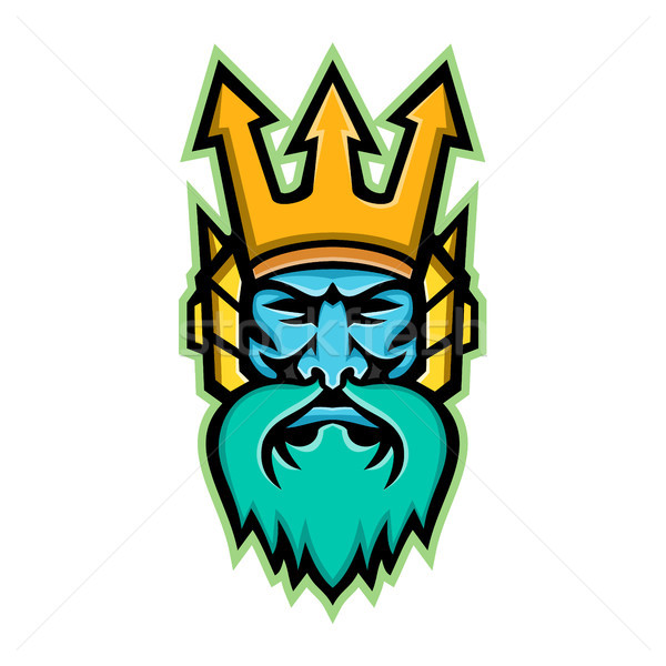 Poseidon Greek God Mascot Stock photo © patrimonio