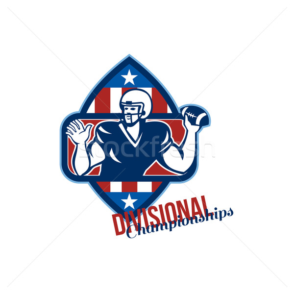 American Football Quarterback Divisional Championships Retro Stock photo © patrimonio