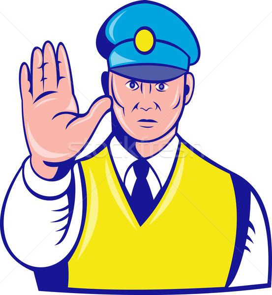 Policial mão para cima ilustração Foto stock © patrimonio