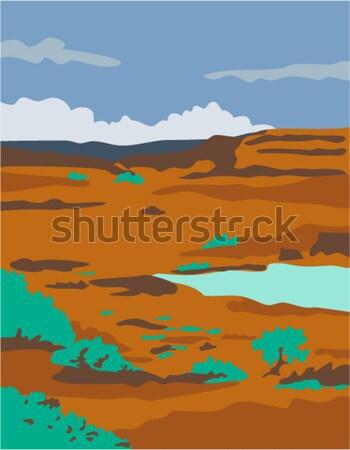 Piros kő kanyon stílus illusztráció első Stock fotó © patrimonio