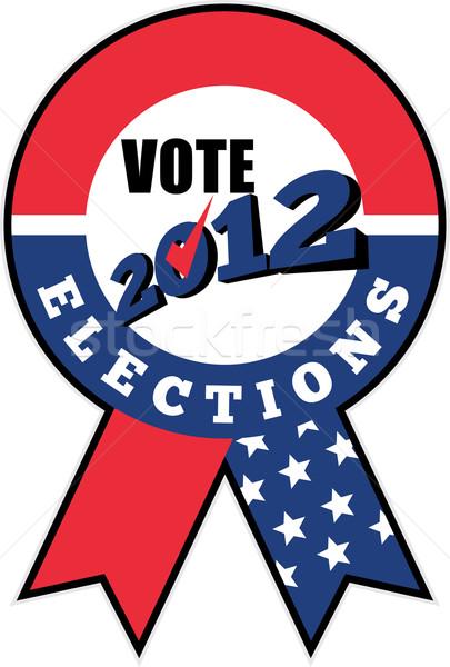 élection USA ruban 2012 illustration Photo stock © patrimonio