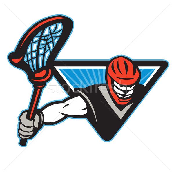 Lacrosse Player Crosse Stick  Stock photo © patrimonio