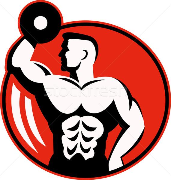 body builder lifting a dumbbell  Stock photo © patrimonio
