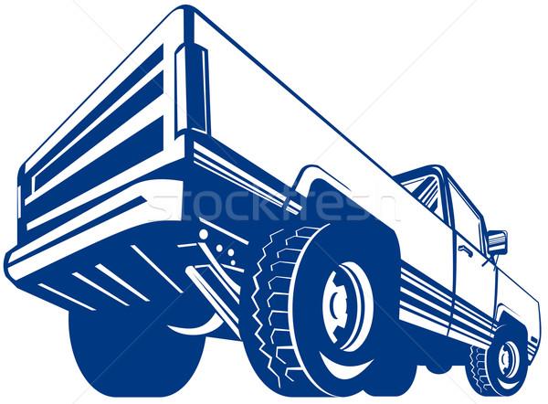 Pick up truck rear view Stock photo © patrimonio