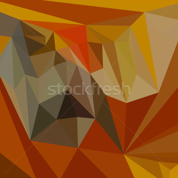 Caoba marrón resumen bajo polígono estilo Foto stock © patrimonio