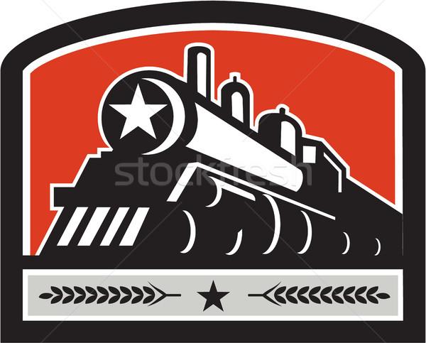 Stoom trein locomotief star kuif retro Stockfoto © patrimonio