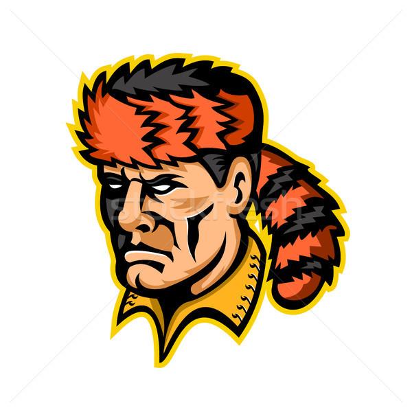 Davy Crockett Mascot  Stock photo © patrimonio