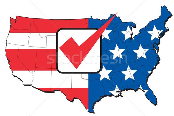 American election map of USA Stock photo © patrimonio