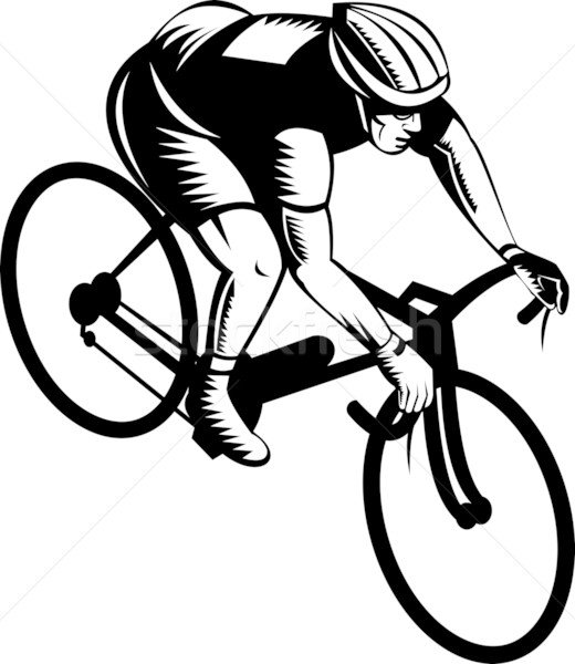 cyclist riding bicycle Stock photo © patrimonio