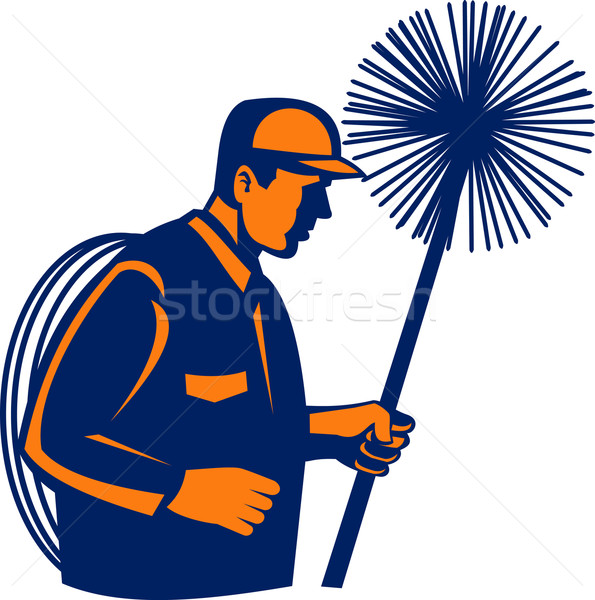 Chimney sweeper or cleaner Stock photo © patrimonio