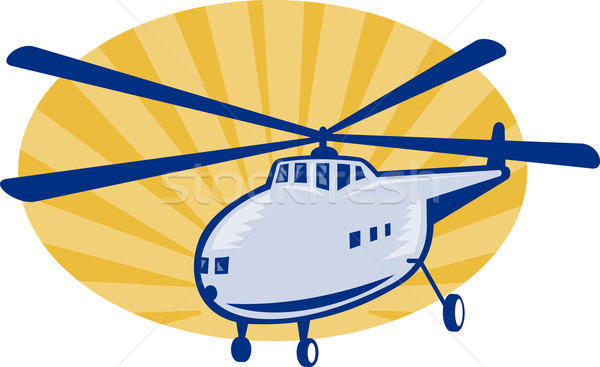 Retro style helicopter or chopper Stock photo © patrimonio