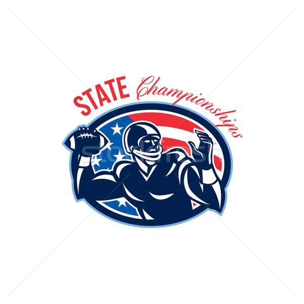 Quarterback State Championships Retro Stock photo © patrimonio