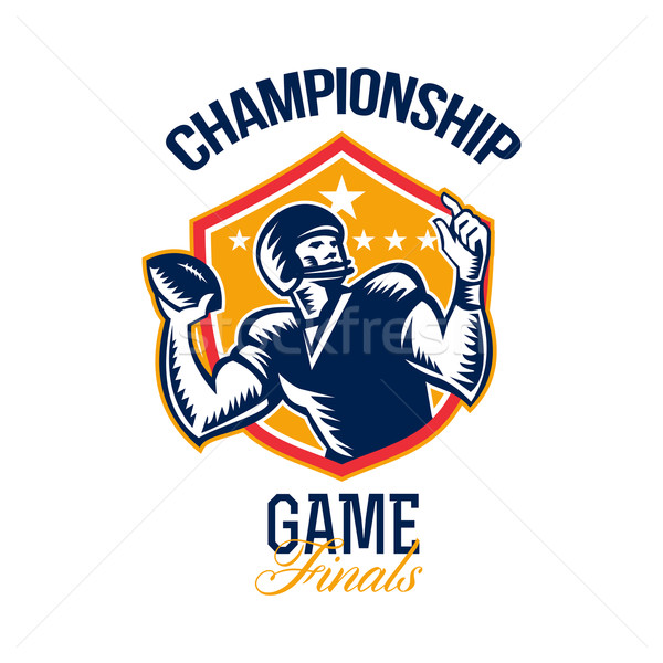 American Football Championship Game Finals Shield Stock photo © patrimonio
