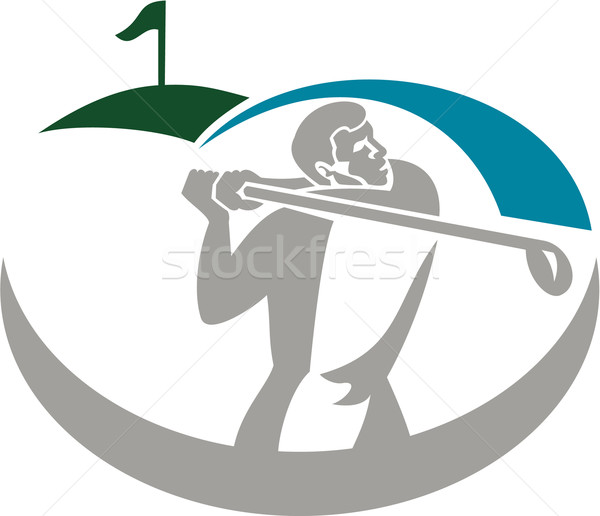 ゴルファー オフ ゴルフ レトロな 実例 演奏 ストックフォト © patrimonio